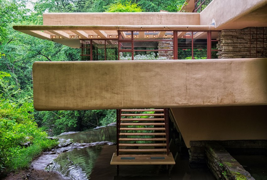 Stairs - Fallingwater House by Frank Lloyd Wright / Edgar J. Kaufmann House