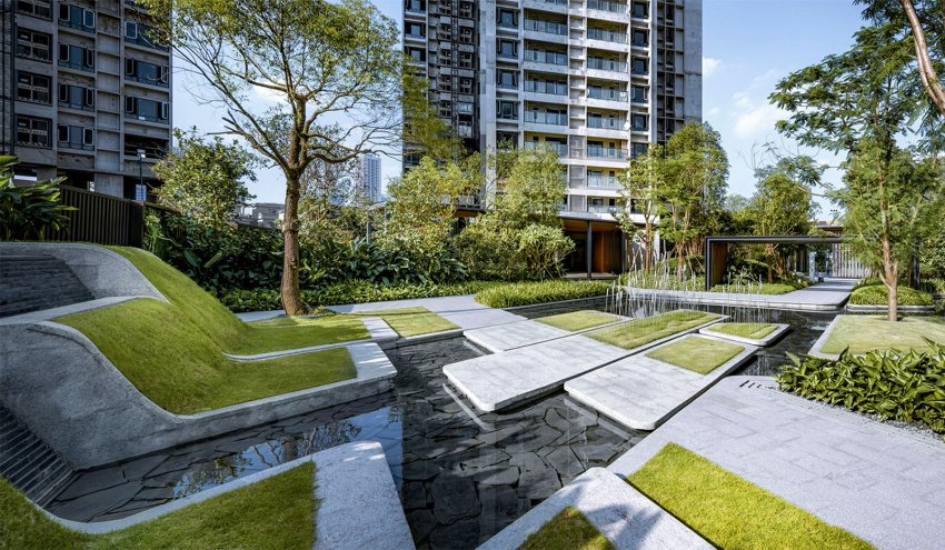 Poly Tianhuan Garden Garden by IAPA Pty. Ltd