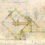 Brion Cemetery Sanctuary Carlo Scarpa ArchEyes sketch
