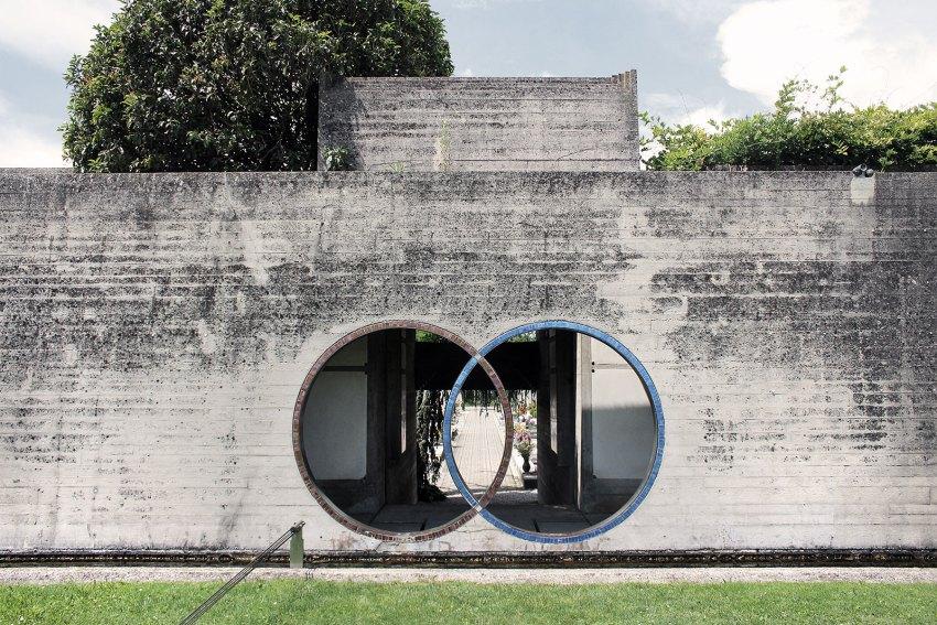 Brion Cemetery Sanctuary Carlo Scarpa ArchEyes trevor patt facade