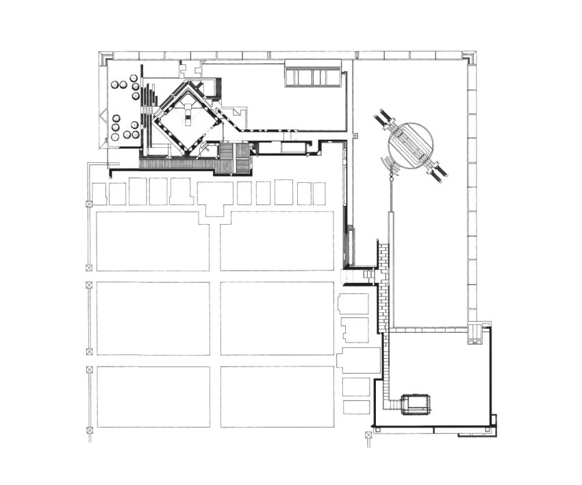 Floor Plan - Brion Cemetery & Sanctuary / Carlo Scarpa