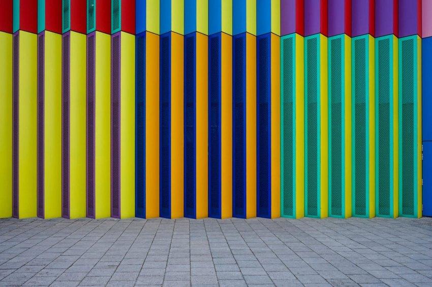 Munich's most colorful Shopping Centre Facade / Michael Nguyen Photographs
