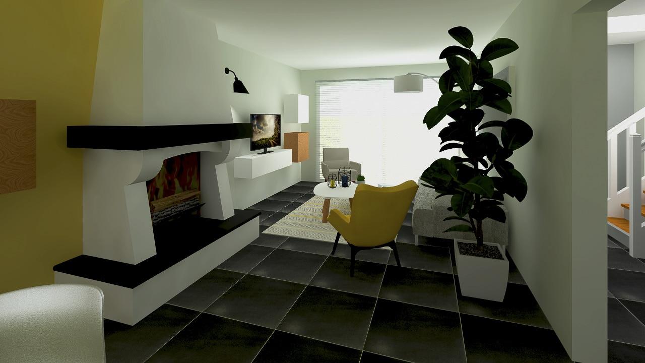 Salon lumineux et moderne
