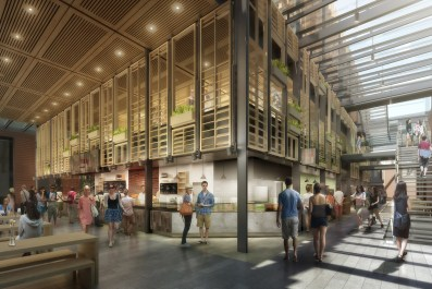 Interior Street looking at Food Venue