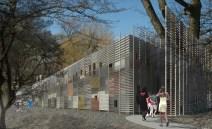 Building Entrance - Exterior Perspective