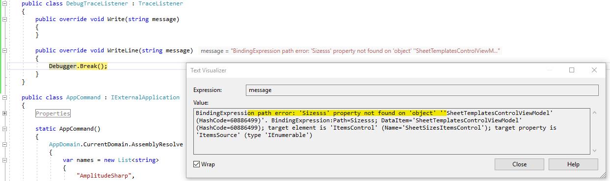 debugging WPF data bindings | archi-lab