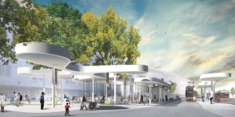 J. Mayer H and architekten pour la conception du nouvel arrêt de tramway à Fribourg