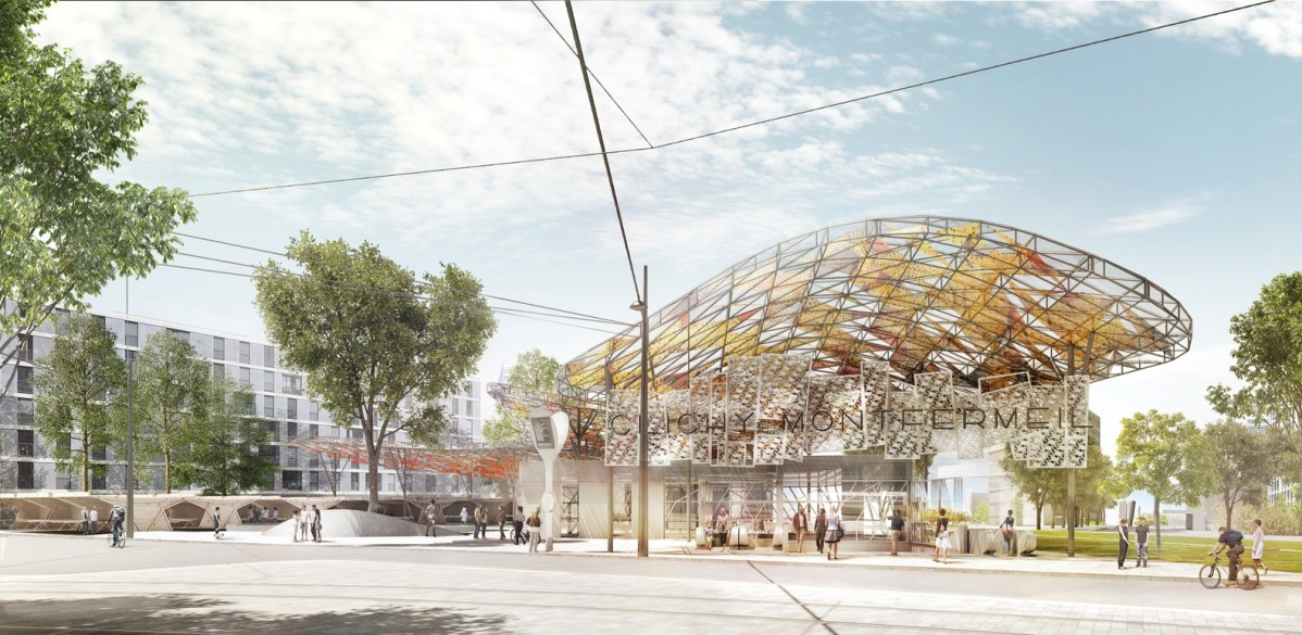 Gare de Clichy Montfermeil -image du concours @ Architectes EMBT / Bordas + Peiro