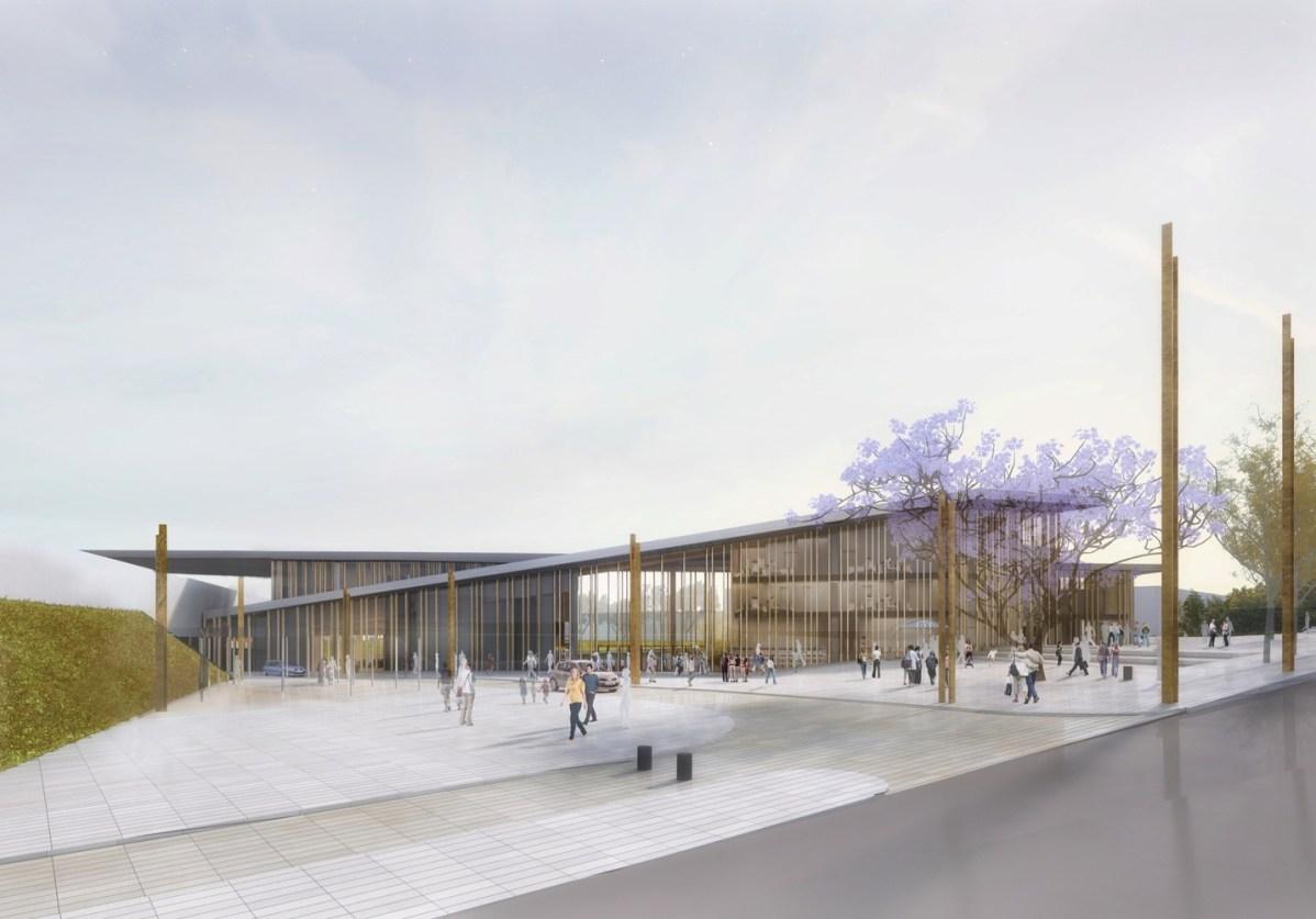 Gare du Bourget RER - image du concours @ Architecte Elisabeth de Portzamparc
