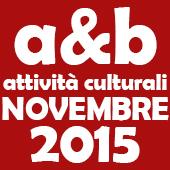 Attività culturali novembre 2015