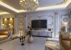 Luxury-TV-wall-living-room-European
