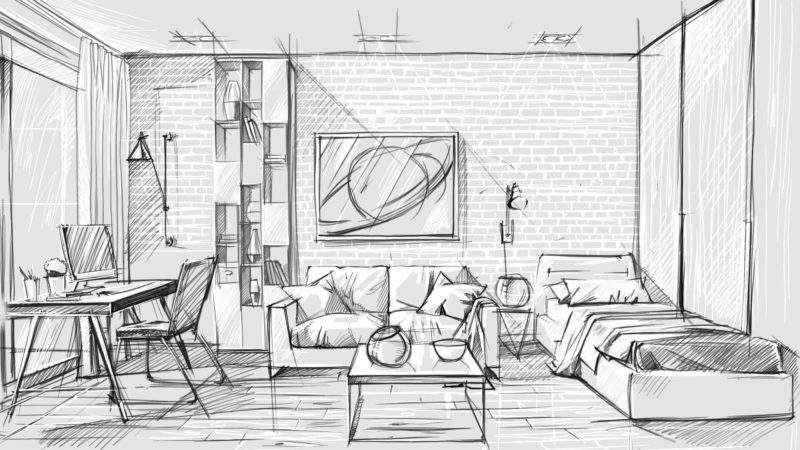 Types Of Presentation Drawings For Interior Designers
