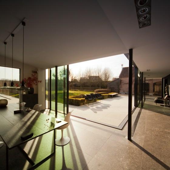 Woning Mechelen - nieuwbouw uitbreiding - binnen-buitengevoel