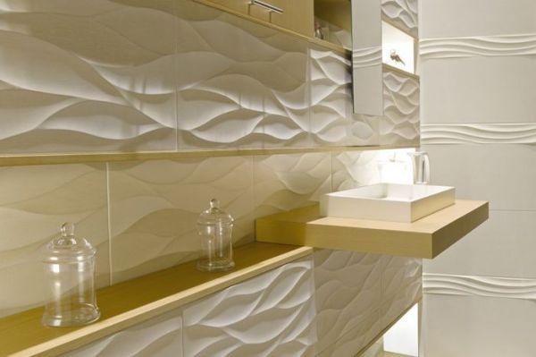 Плитка с 3D-эффектом - способ создать оригинальную ванную ...