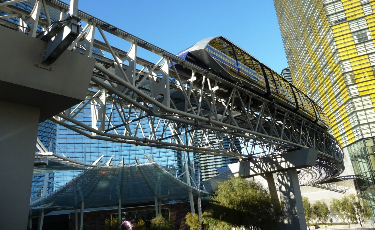 Las Vegas Monorail. Ruth and Rick Meghiddo, 2013. All Rights Reserved.
