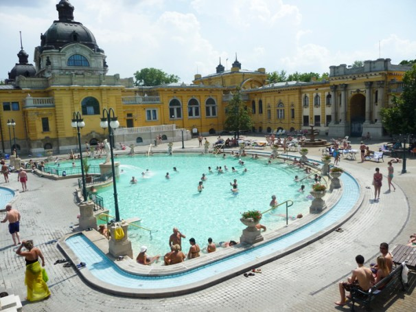 Szechenyi Baths and Spa. Copyright Ruth and Rick Meghiddo, 2010. All Rights Reserved.