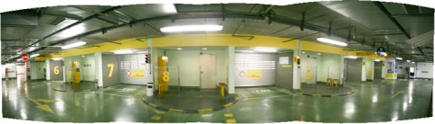 Underground Parking. Copyright Ruth and Rick Meghiddo, 2010. All Rights Reserved.