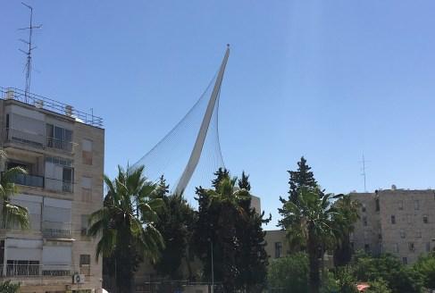 Chord Bridge, Jerusalem. Copyright Ruth and Rick Meghiddo, 2016. All Rights Reserved.
