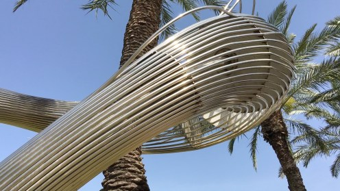 """""""Kesher"""" - Sculpture at Tel Aviv University. Copyright Ruth and Rick Meghiddo, 2016. All Rights Reserved."""