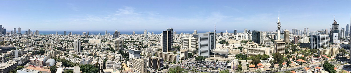 Tel Aviv - Panoramic View. Copyright Ruth and Rick Meghiddo, 2016. All Rights Reserved.