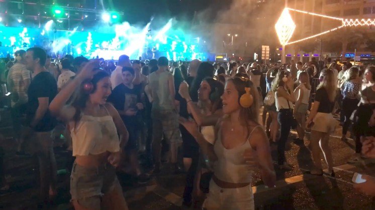 White Night in Tel Aviv. Copyright Ruth and Rick Meghiddo 2016 - All rights reserved.