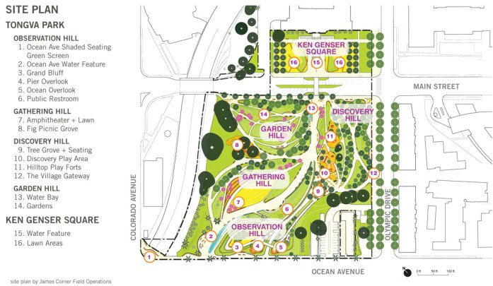 Tongva Park Plan