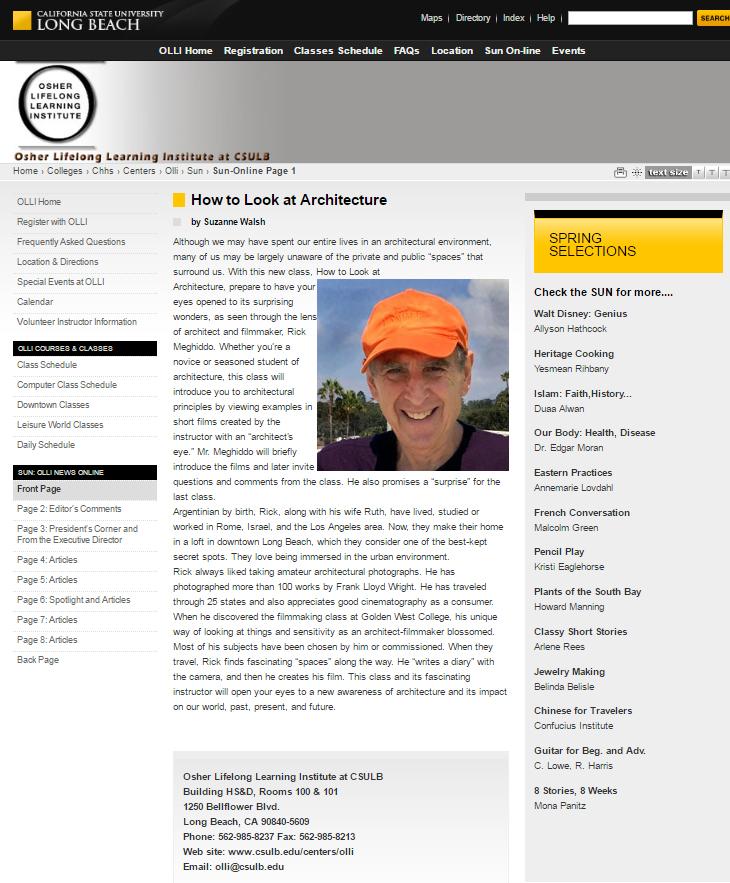 OLLI/CSULB Website