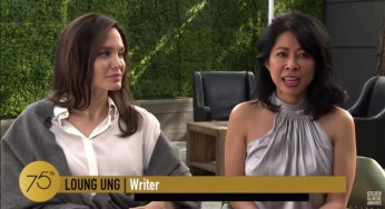 Director Angelina Jolie with Writer Loung Ung