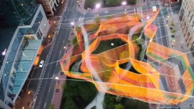 Sculpture by Janet Echelman.