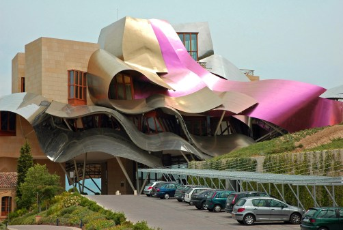Hotel in Spain. Architect: rank Gehry.