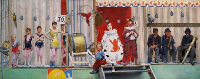 Fernand Pelez, Grimaces et misères: les Saltimbanques (1888)