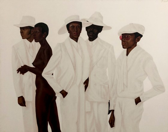 What's Going On, 1974, by Barkley Hendricks.