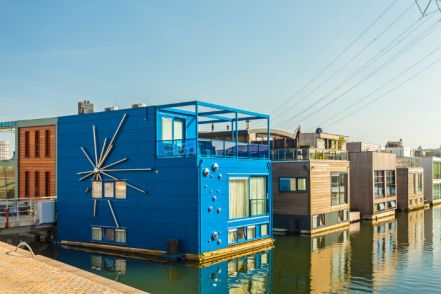 IJburg floating housing, Amsterdam.