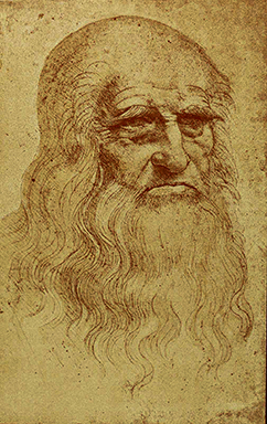Leonardo's self-portrait at 50, 1512