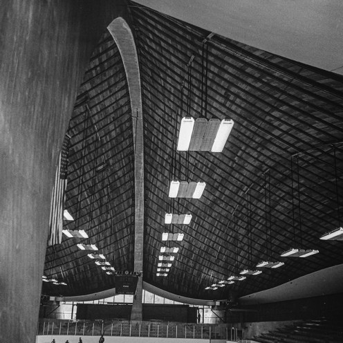 Ingalls Rink, Yale, 1958. Architect: Eero Saarinen. Photo: R&R Meghiddo.