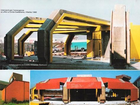 Emergency construction in fiberglass