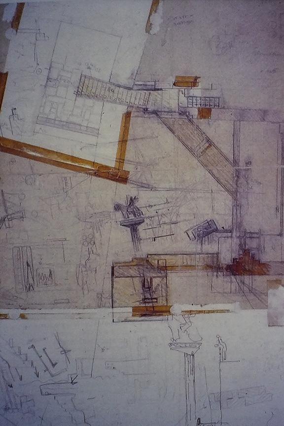 Castelvecchio Museum,drawing by Carlo Scarpa