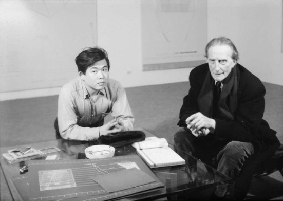 Arakawa with Marcel Duchamp