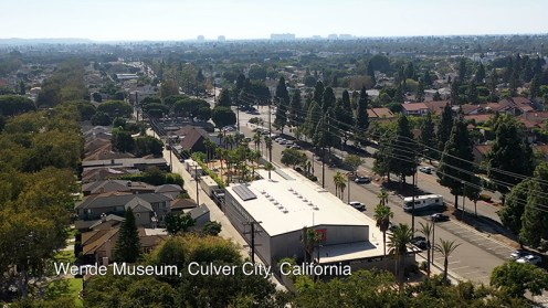 Aerial view of The Wende Museum in Culver City