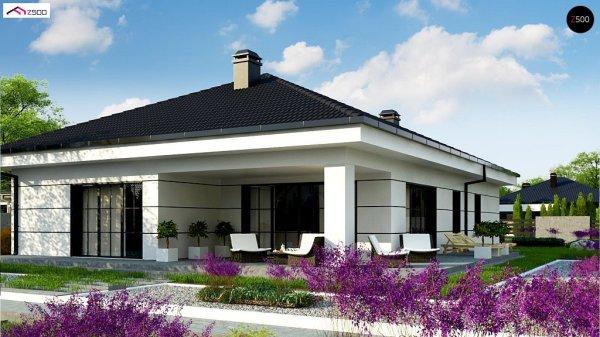 Купить проект одноэтажного дома Z443 по выгодной цене в ...