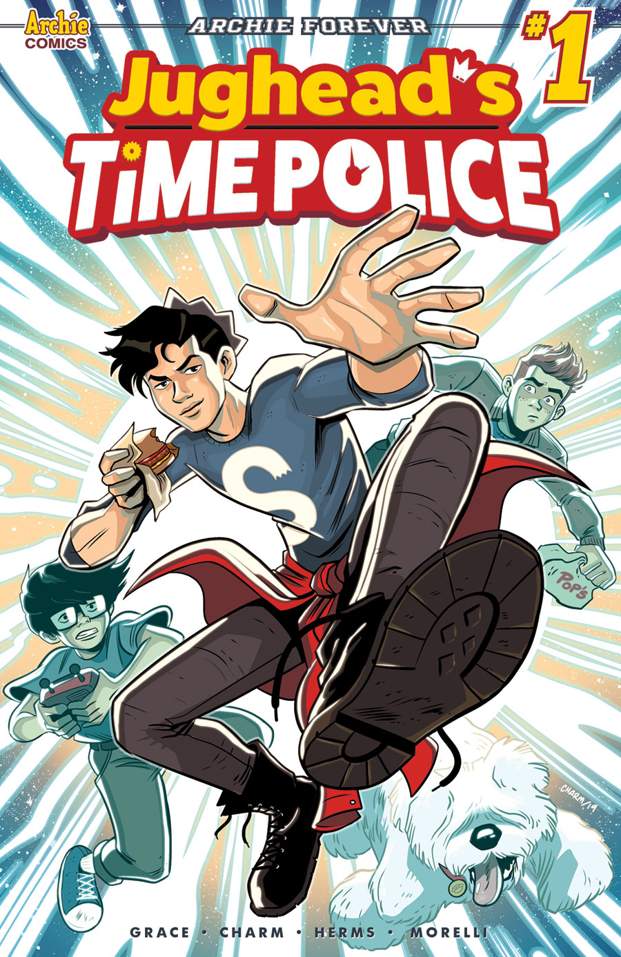 The cover for Jughead's Time Police.