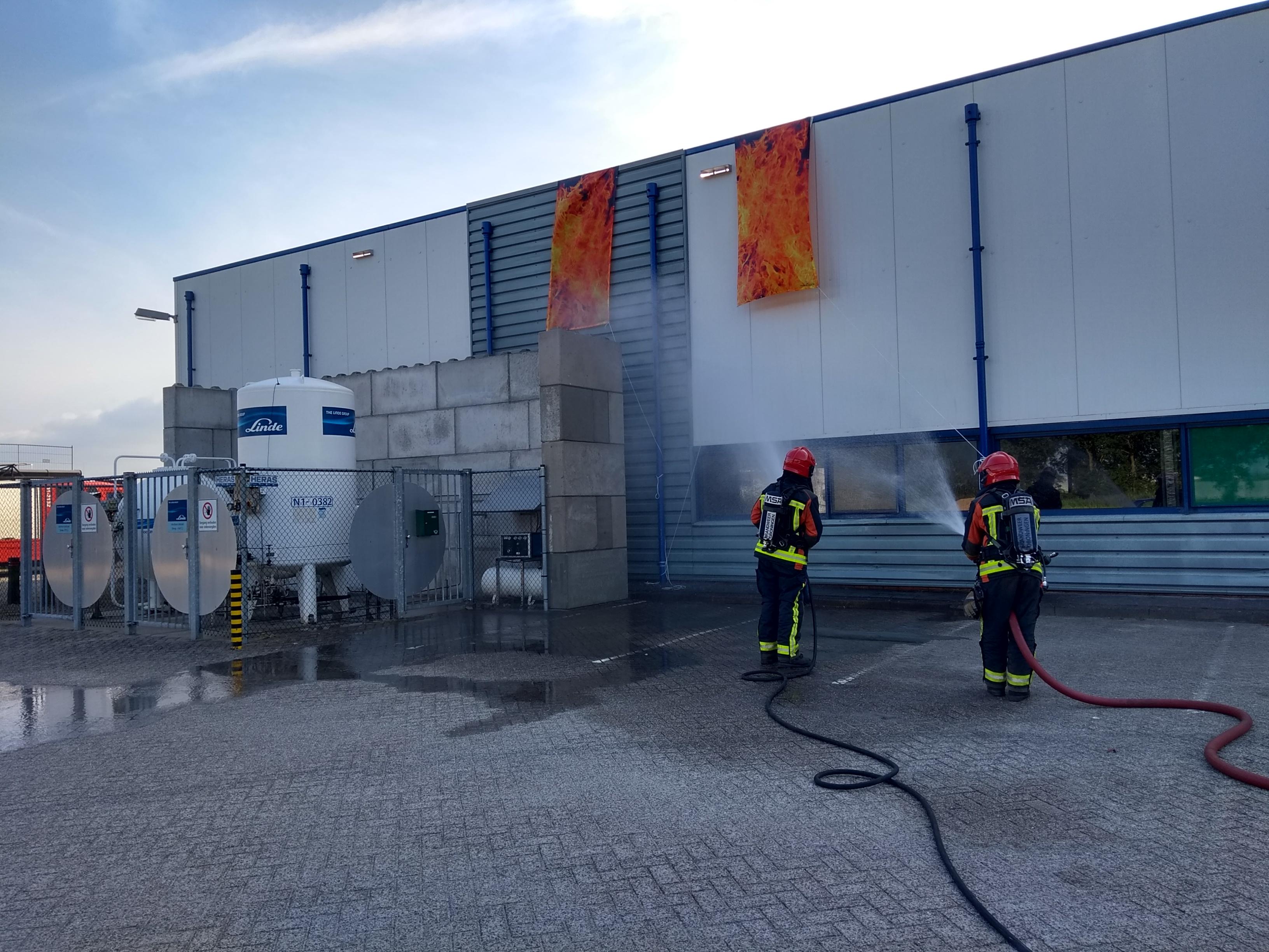 11-06-2018 oefening grote brand Huls Vlagtwedde