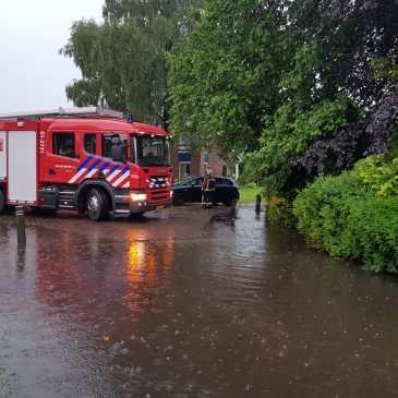 01-06-2018 Wateroverlast Onstwedde en Wedde