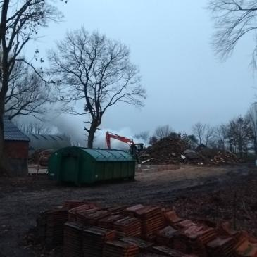 31-12-2018 melding Woningbrand, bleek bult hout te zijn.