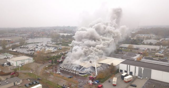 22-11-2018 Inzet meetploeg grote brand Winschoten