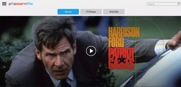 Popcornflix Websites like 123movies