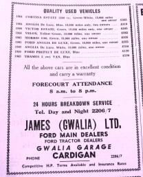 19660602 James (Gwalia) Ltd advert