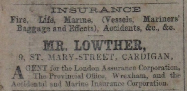Lowther insurance 1866