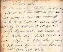 Blancmange recipe, Webley-Parry collection