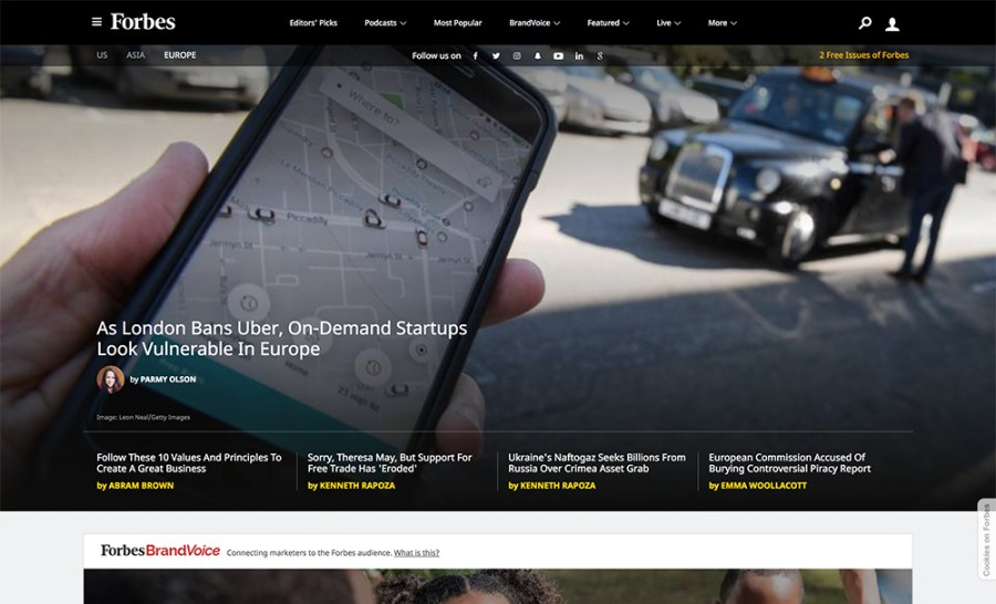 Forbes - Awesome Websites powered by WordPress
